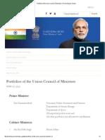 All Minister Department of Modi Team