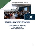 Complete 2015 EIH Principals Survey