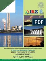 IEX IITK Training Brochure 2015