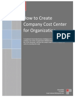 How to Create Company Cost Center