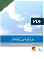 Expansion Monetaria. ASUNCIÓN DE RIESGOS