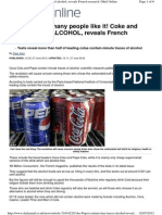 Alcohol in Coke and Pepsi