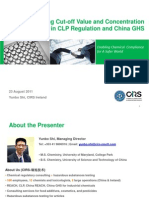 Understanding Cut-Off Value and Concentration Limits in CLP Regulation and China GHS