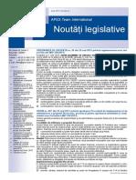 APEX Team Noutati Legislative 6 2013