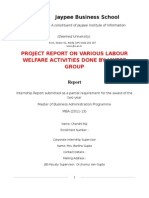 4642. Project Report on Various Labour Welfare Activities Done by Jaypee Group and Its Effectiveness [Hr]