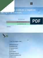 Características Positivas y Negativas Del Signo de Escorpio