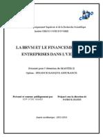 Brvm Et Le Financement Des Entreprises Dans l'Uemoa