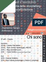 Raccontare il territorio - Eccellenze in Digitale Foggia #digitmontidauni - Antonacci Domenico Sergio
