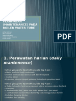 (Maintenance) Pada Boiler Water Tube
