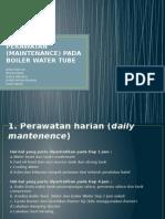 (Maintenance) Pada Boiler Water Tube