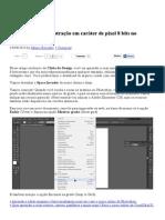 Como Criar Uma Ilustração Em Caráter de Pixel 8 Bits No Illustrator