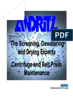 6 Centrifuge and Belt Press Maintenance