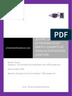 CU00705B Es HTML Un Lenguaje de Programacion Concepto Lenguaje Etiquetas