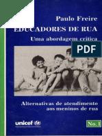 Educadores de Rua - Paulo Freire