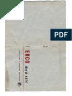 Ekco A274 Manual