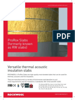 Rockwool Slab Data Sheet-(ProRox Formerly RW Slab)