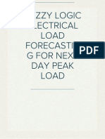 FUZZY LOGIC ELECTRICAL LOAD FORECASTING FOR NEXT DAY PEAK LOAD
