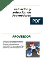 Evaluacion y Seleccion de Proveedores. Proceso de compras