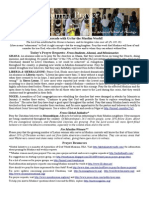 Jumaa Prayer Bulletin March 20 2015