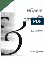 Howells Elegy Full Score