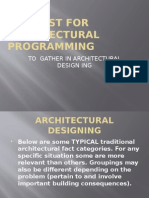 Fact List for Architectural Programming