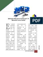 """Aplicación Web para el Control de E. B. """"Monseñor Lucas Castillo"""""""