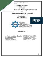 Motivation in Pharma Industry of Pakistan