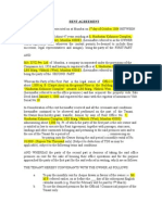 Rent - Lease Agreement - Format 1