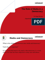 Greg Simons the Role of Media in a Democracy