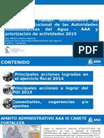 Reunión Autoridades Administrativas del Agua 5,6 y 7 Febrero 2015