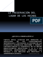 Preservacion Del Lugar de Los Hechos 2015
