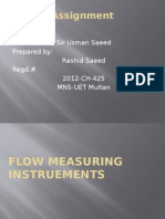 Flow Measuring Instruements