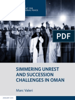 Simmering Unrest and Succession Challenges in Oman