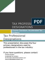 Tax Professional Designations