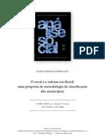 O Rural e o Urbano No Brasil