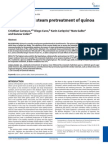SO2-Catalysed Steam Pretreatment of Quinoa Stalks