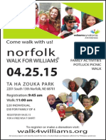Norfolk Williams Syndrome Awareness Walk