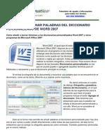 Agregar Eliminar Palabras Diccionario Word 2007