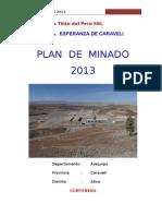 Plan de Minado - Esperanza 2013