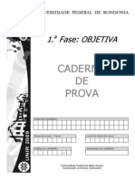 37 Caderno Primeira Fase Unir 2009 No Gabarito