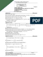 BAC MATE Proba e c Matematica m2 Var 03