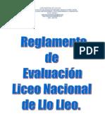Reglamento de Evaluacion L Nacional