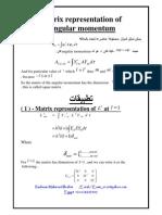 Matrix Representation of Angular Momentum