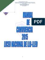 Manual de Convivencia 2015 Liceo Nacional de Llo-Lleo