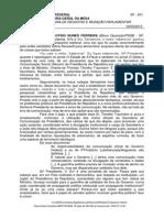 Discurso sobre documento de ministro enviado a dirigentes do PT