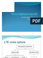 Voice Solutions on LTE