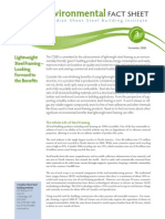 Environmental Fact Sheet Lightweight Steel Framing Looking Forward to the Benefits