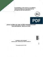 Aplicações de EDO Em Sistemas Oscilantes