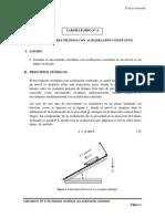 LAB N°4 - MOVIMIENTO RECTILÍNEO CON ACELERACIÓN CONSTANTE