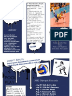 volleyball brochure